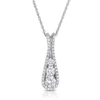 Eloquence 14k White Gold 1 1/2ct TDW Diamond Pendant (G-H, I1-I2)
