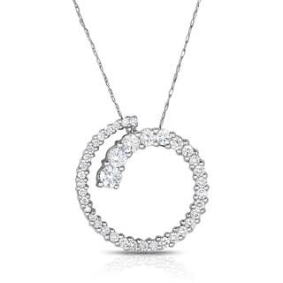 Eloquence 14k White Gold 1ct TDW Diamond Journey Pendant (H-I, I1-I2)