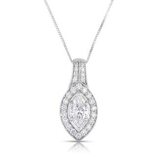 Eloquence 14k White Gold 1 2/5ct TDW Diamond Pendant (H-I, I1-I2)
