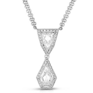 Eloquence Platinum 2 1/2ct TDW Geometric Diamond Pendant (H-I, SI2-SI3)