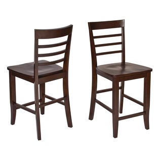 Jamestown Curved Ladder Back Barstools (Set of 2)