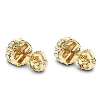 Luxurman 14k Gold 1ct TDW Round-cut Prong-set Diamond Earrings (G-H, VS1-VS2)