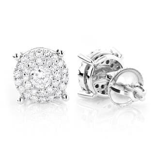 Luxurman 14k Gold 3/5ct TDW Round Diamond Stud Earrings (G-H, VS1-VS2)|https://ak1.ostkcdn.com/images/products/9590358/P16775228.jpg?impolicy=medium