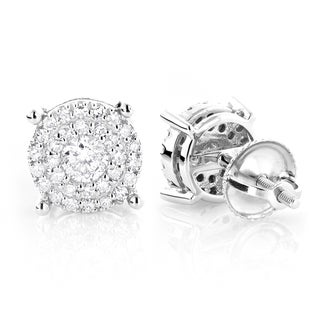 Luxurman 14k Gold 3/5ct TDW Round Diamond Stud Earrings (G-H, VS1-VS2) (2 options available)