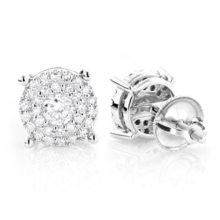 Luxurman 14k Gold 3/5ct TDW Round Diamond Stud Earrings (G-H, VS1-VS2)
