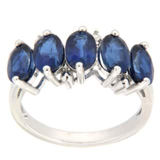 Pearlz Ocean Sterling Silver Blue Kyanite 5-stone Ring|https://ak1.ostkcdn.com/images/products/9590865/P16775203.jpg?impolicy=medium