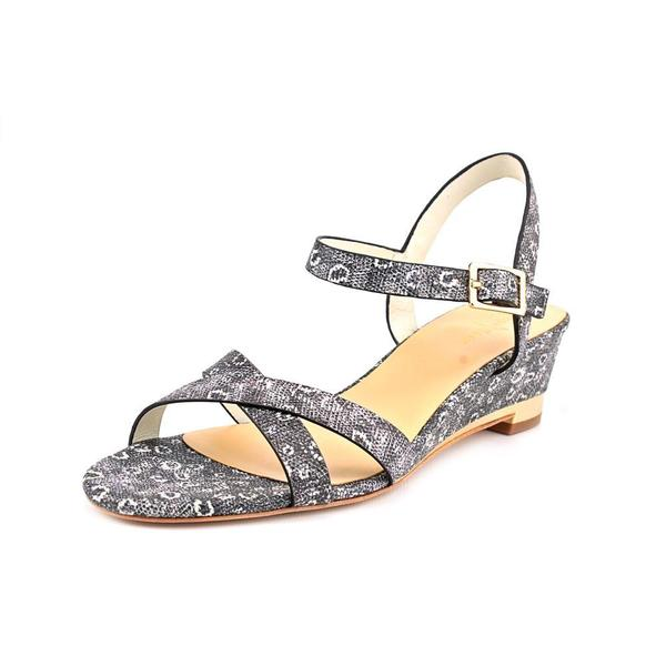 d98c33241dc8 Shop Cole Haan Women s  Melrose Low Wedge  Leather Sandals - Free ...