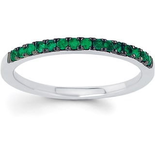 Boston Bay Diamonds 14k White Gold Emerald Stackable Ring