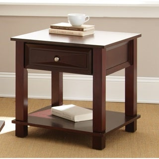 Montoya Merlot Finished End Table by Greyson Living