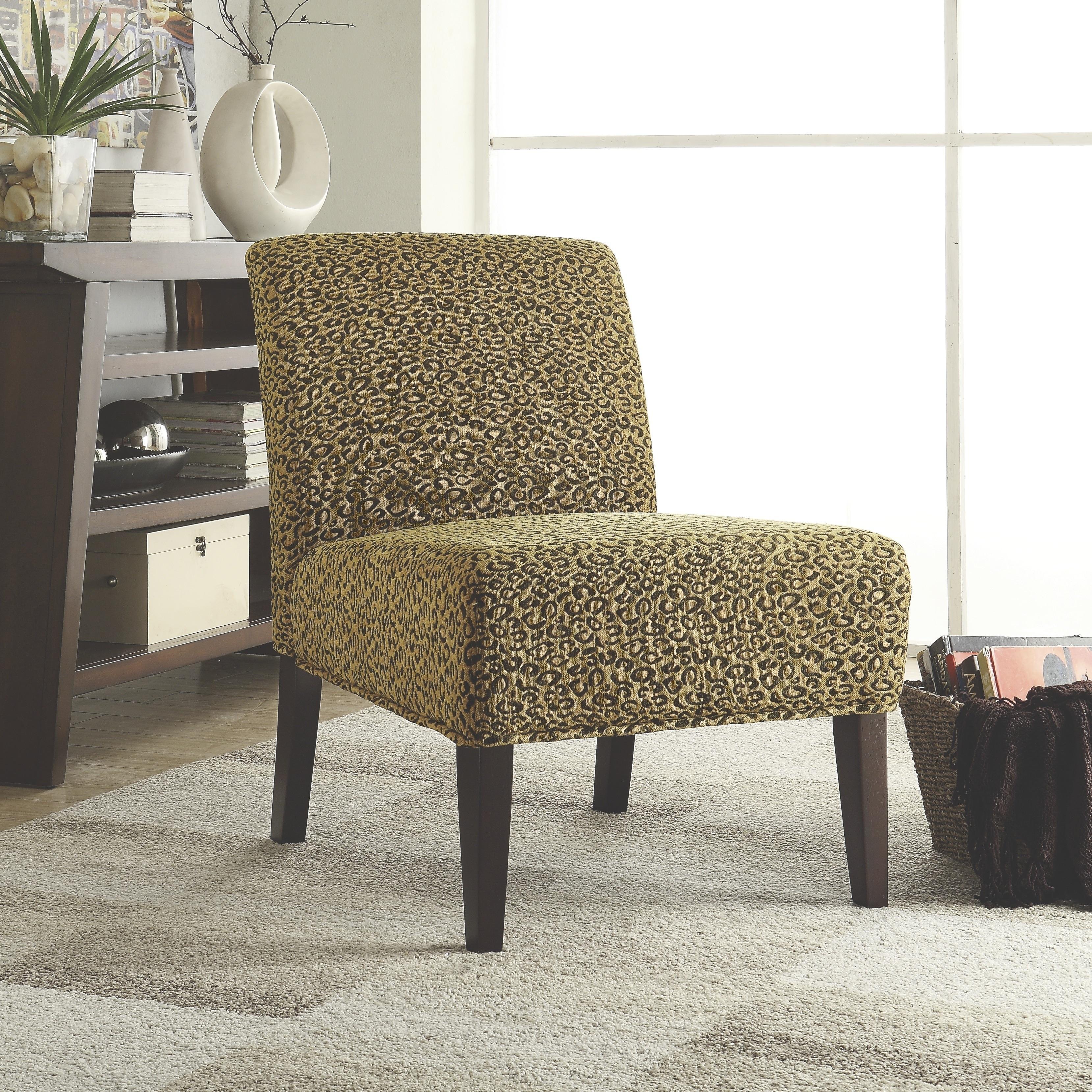 Coaster Furniture Leopard Chenille Accent Chair (Leopard)...