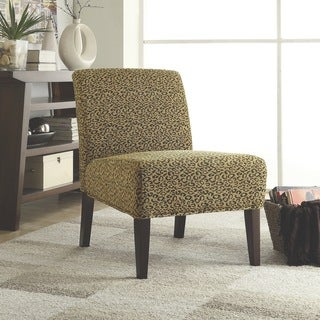 Leopard Chenille Accent Chair