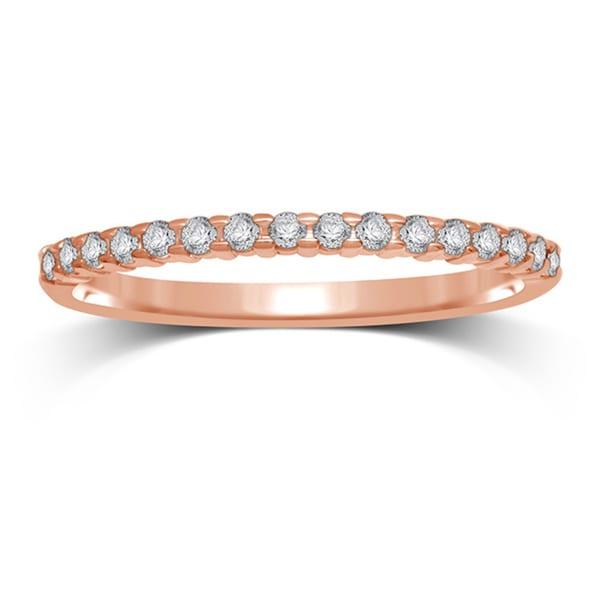 Shop Unending Love Ladies 10k Rose Gold 1/7 Ctw Diamond