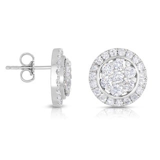 Eloquence 14k White Gold 2 1/5ct TDW Diamond Stud Earrings (H-I, I2-I3)