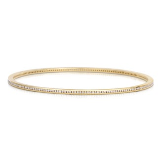 Eloquence 18k White Gold 3/4ct TWD Diamond Bangle Bracelet