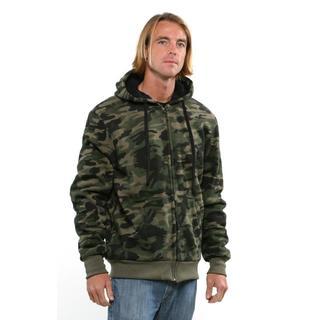 True Rock Men's Fleece Forest Camo Hoodie