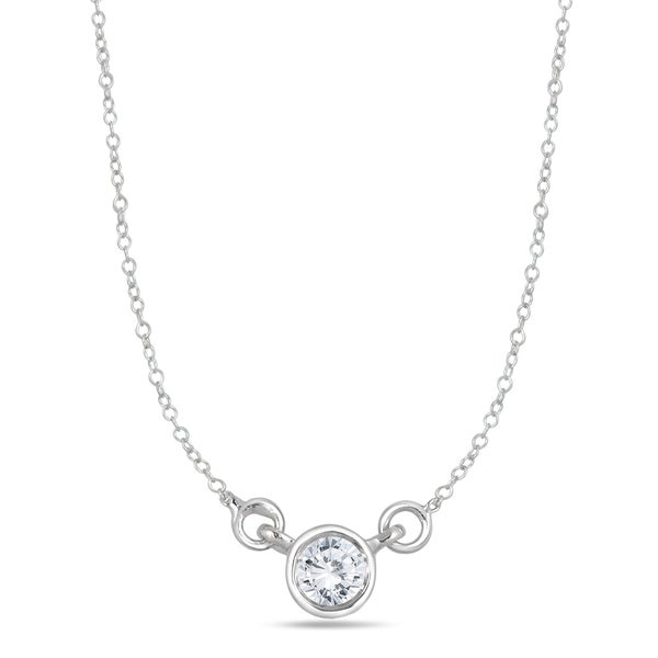 Marquee jewels 14k white gold 14ct bezel set diamond solitaire marquee jewels 14k white gold 14ct bezel set diamond solitaire pendant mozeypictures Image collections