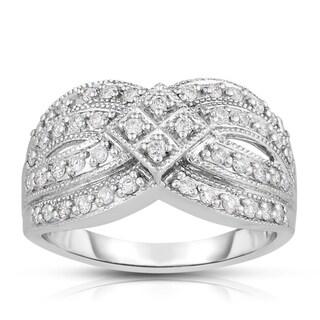 Eloquence 14k White Gold 1/2ct TDW Fashion Diamond Band