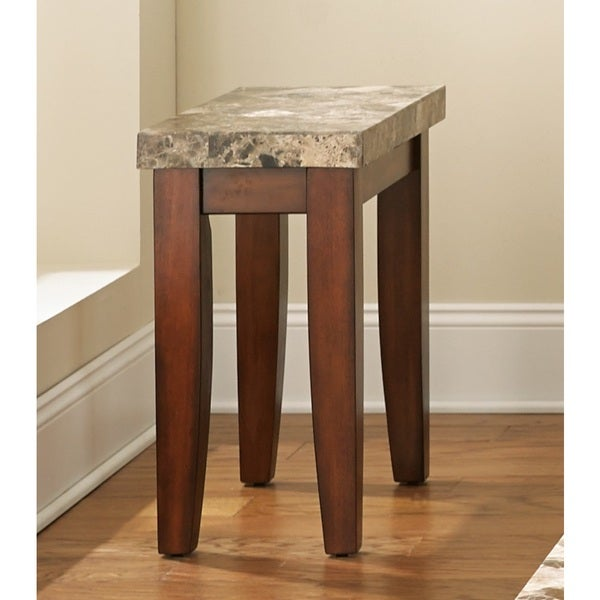 Martinique Marble Top Chairside Table by Greyson Living