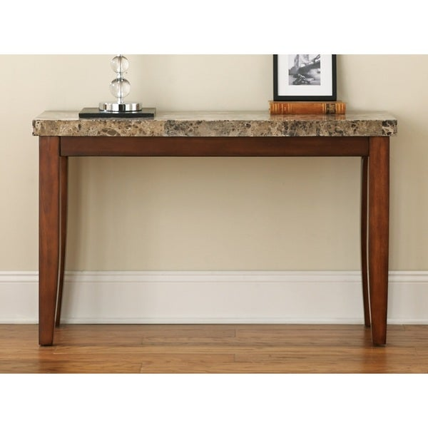 Shop Martinique Marble Top Sofa Table By Greyson Living Free