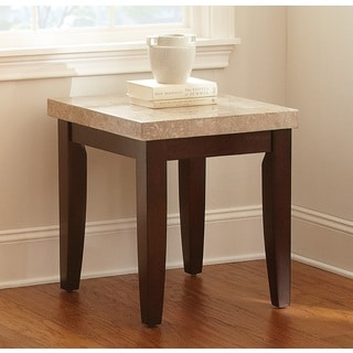 Greyson Living Malone Marble Top End Table