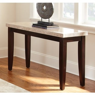 Greyson Living Malone Marble Top Sofa Table