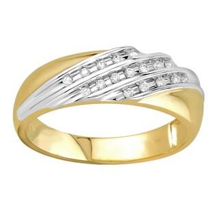 10k Yellow Gold 1/6cttw Men's Wedding Ring