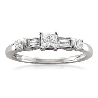 Montebello 14k White Gold 1/2ct TDW Diamond Engagement Ring