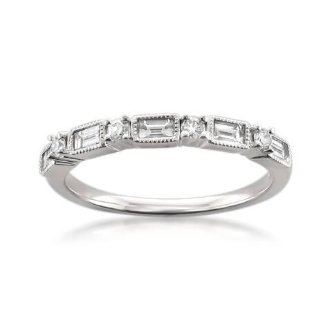 Montebello 14KT White Gold 1/2ct TDW Diamond Wedding Band