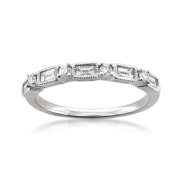 Montebello 14k White Gold 1/2ct TDW Diamond Wedding Band
