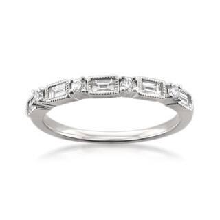 Montebello 14k White Gold 1 2ct TDW Diamond Wedding Band