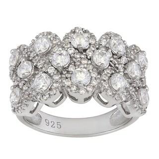 Gioelli Sterling Silver Cubic Zirconia Designer Ring