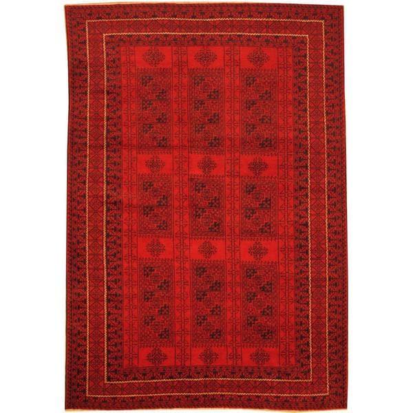Handmade One-of-a-Kind Balouchi Wool Rug (Afghanistan) - 6'8 x 9'8