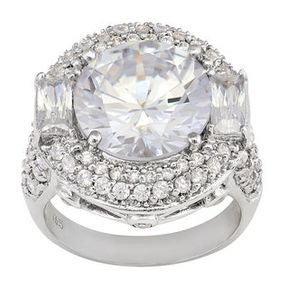 Gioelli Sterling Silver Designer Ring With White Cubic Zirconia