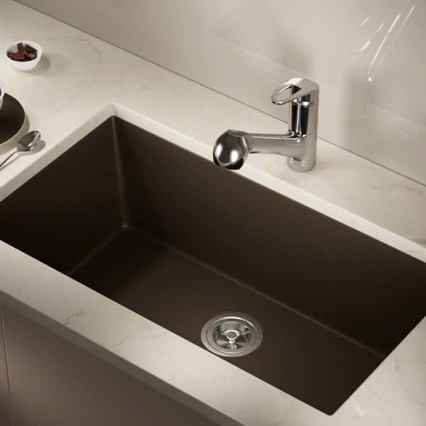 Shop 848 Composite Granite Single Bowl Kitchen Sink - On ...