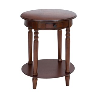 Mahogany Wood 27-Inch Oval Lamp Table
