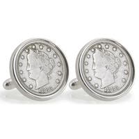 American Coin Treasures Sterling Silver Nickel University of Texas 1883 Cuff Links
