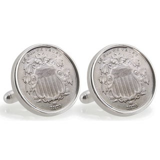 American Coin Treasures Sterling Silver Nickel Ohio State University 1870 Cuff Links