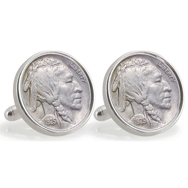 American Coin Treasures Sterling Silver Nickel University of Miami 1925 Cuff Links