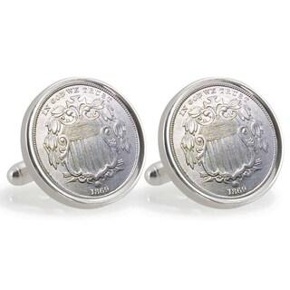 American Coin Treasures Sterling Silver Nickel University of Nebraska 1869 Cuff Links