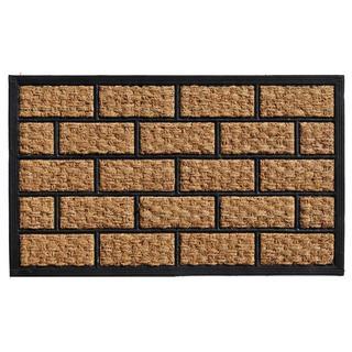 Brickmann Coir and Rubber Doormat (1'6 x 2'6)