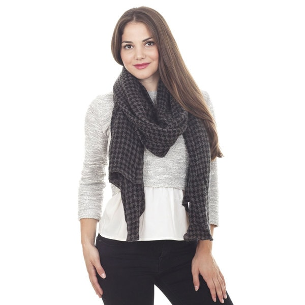 Houndstooth Design Scarf. Opens flyout.