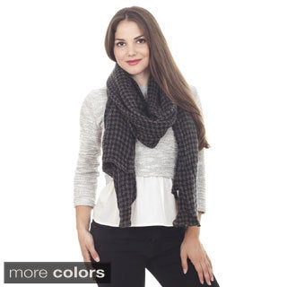 Houndstooth Design Scarf