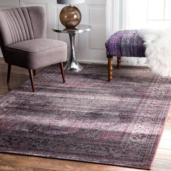 Purple Viscose Rug: Shop NuLOOM Oriental Vintage Viscose Persian Amethyst Area