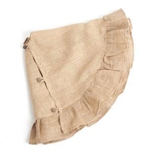 Ruffled Jute Christmas Tree Skirt