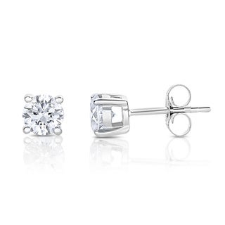 Montebello 14k White Gold 3/8ct TDW Round Diamond Stud Earrings (H-I, I2)