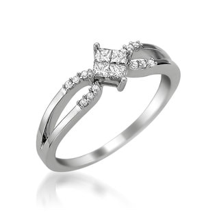 Montebello 14k White Gold 1/3ct TDW Diamond Promise Ring