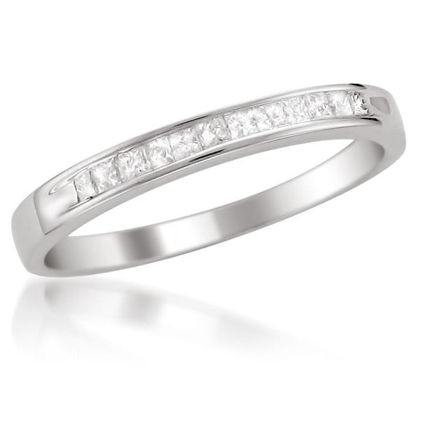 Montebello Platinum 1/ 4ct TDW Diamond Channel-set Wedding Band