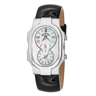 Philip Stein Women's 1-CMOP-LB Dual Timezone Mother of Pearl Dial Watch|https://ak1.ostkcdn.com/images/products/9595576/P16778478.jpg?impolicy=medium