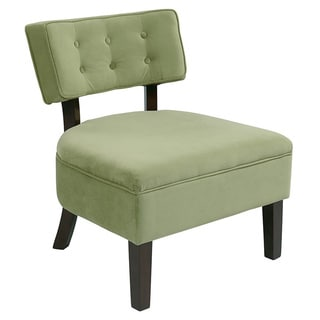 Curves Button Tufted Back Accent Chair