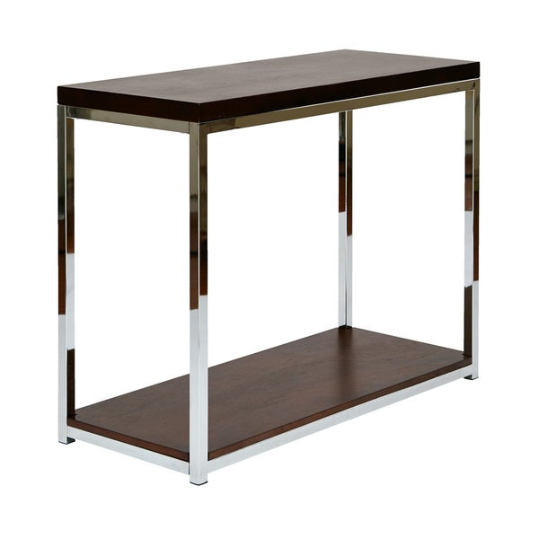 Foyer Table Overstock : Shop wall street foyer table in espresso and white by ave